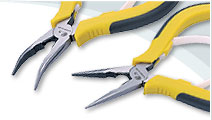 Long Bent Nose Pliers with POM spring