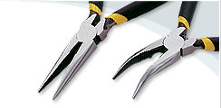 Long & Bent Nose Pliers -B with spring