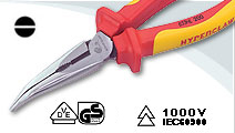 VDE Bent Nose pliers high leverage