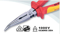 VDE bent nose pliers